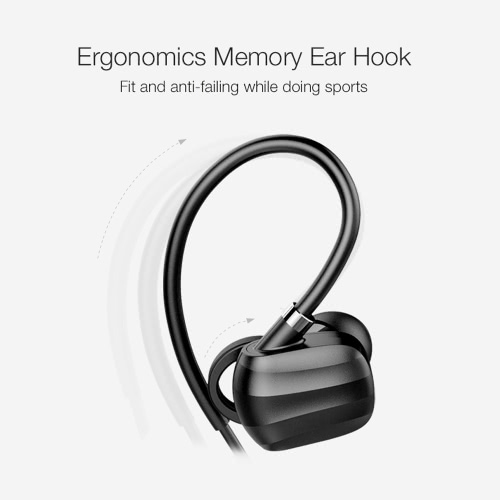 GGMM W710 Wireless Business Sport Stereo BT Headphone Headset Running Earphone Hands-free Pair/off/on Receive/Hang Music Play/Pause Volume +/- for iPhone 6 6S 6 Plus 6S Plus Samsung S6 S7 edge