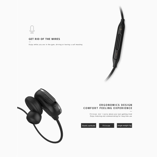 Macaw T50 Sport Earphone In-ear Wireless Stereo BT4.1 Running Headphone Headset Hands-free Pair/Off/On Receive/Hang Music Play/Pause Volume +/- for iPhone 7 Plus Samsung S8+
