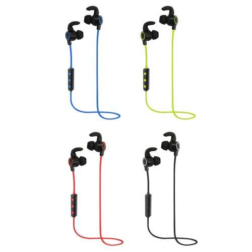 H6 Business Sport Earphone In-ear Wireless Stereo BT4.1 Running Headphone Headset Hands-free Pair/Off/On Receive/Hang Music Play/Pause Volume +/- for iPhone X Samsung S8+ Note8