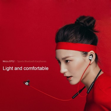 Meizu EP52 Sports BT Earphones Portable BT4.1 Headset Magnetic Design IPX5 Waterproof Stereo Music with Mic Sweatproof Headphones for Android iOS Smartphones