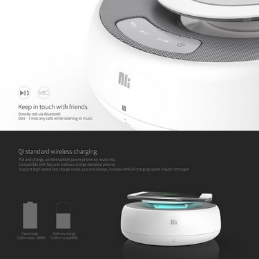 NILLKIN MC2 BT Speaker With Fast Wireless Charging Function Hi-Fi Sound Speaker Qi Standard Wireless Charging for iPhone X iPhone 8 Samsung S8