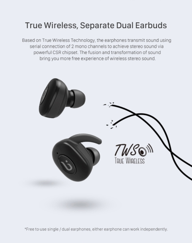 BOROFONE BE8 BT Earphone with 300mAh Earbud Power Bank BT 4.1 Wireless Headset Ergonomic DesignHigh-quality Sound Sports Earbud for iPhone X Samsung Huawei Smartphone