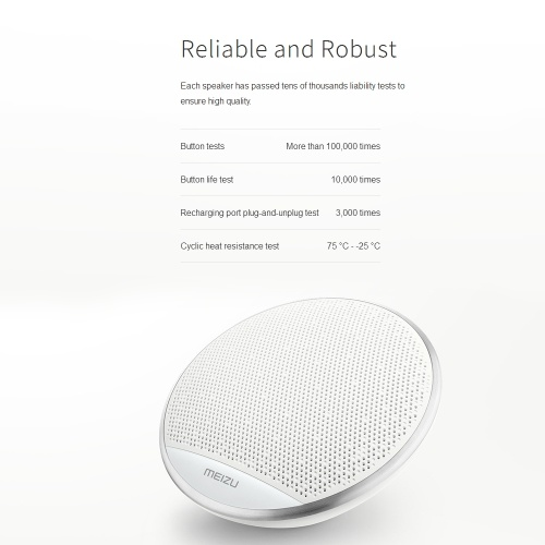 Meizu A20 Wireless BT 4.2 Portable Stereo Outdoor Bass Mini Speakers 15 Hours Handsfree Amplifier Sound Box