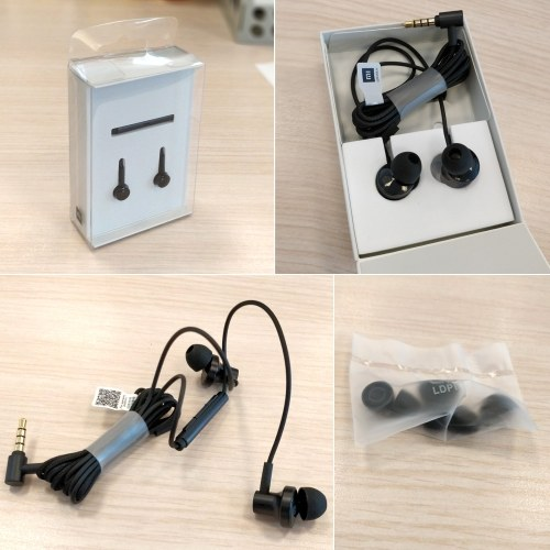 Xiaomi QTEJ03JY In-Ear Earphones 2 Moving Iron Coil Dynamic 3.5mm Noise Cancelling Stereo Earphone Wired Control With MIC For Xiaomi Max 2 Mi6