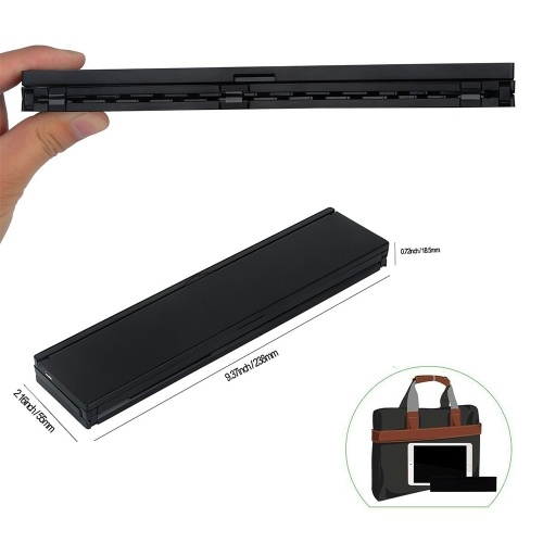 CL-888 Wireless BT Folding Keyboard Portable for Table Laptop Mini Keypad Holder for iOS Android Windows iPad Tablet