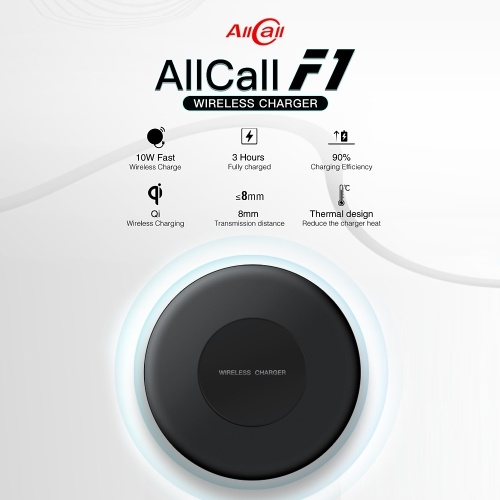 AllCall F1 10W Wireless Charger QI Standard Fast Wireless Charging Stand for AllCall MIX2 iPhone X iPhone 8 Samsung Galaxy S8 Note 8