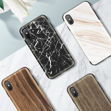 ROCK Original Series Wooden Protection Phone Case For iPhone X Wood And TPU Two-layer Design Phone Cover Shock-Absorbing Anti-scratch Anti-dust Durable Phone Shell