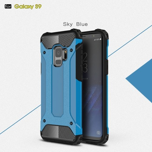 For Samsung Galaxy S9 Case Slim Fit Dual Layer Hard Back Cover Bumper Protective Shock-Absorption & Skid-proof Anti-Scratch Case 5.8 inch