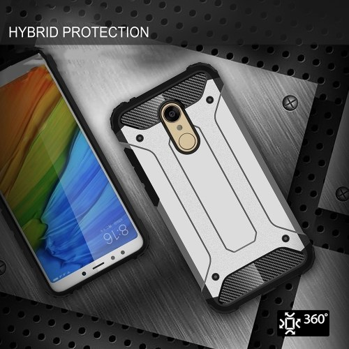 For Xiaomi Redmi 5 Plus Case Slim Fit Dual Layer Hard Back Cover Bumper Protective Shock-Absorption & Skid-proof Anti-Scratch Case 5.99 inch