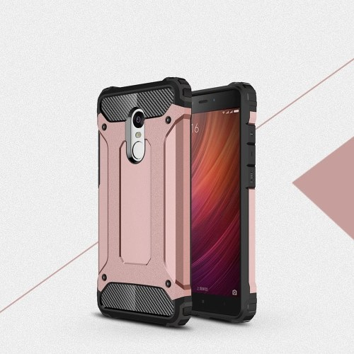 For Xiaomi Redmi Note 4 Case Slim Fit Dual Layer Hard Back Cover Bumper Protective Shock-Absorption & Skid-proof Anti-Scratch Case 5.5 inch