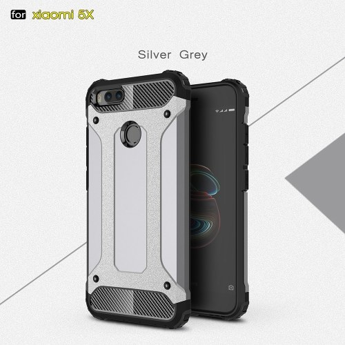 For Xiaomi 5X Case Slim Fit Dual Layer Hard Back Cover Bumper Protective Shock-Absorption & Skid-proof Anti-Scratch Case 5.5 inch