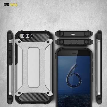 For Xiaomi 6 Case Slim Fit Dual Layer Hard Back Cover Bumper Protective Shock-Absorption & Skid-proof Anti-Scratch Case 5.15 inch