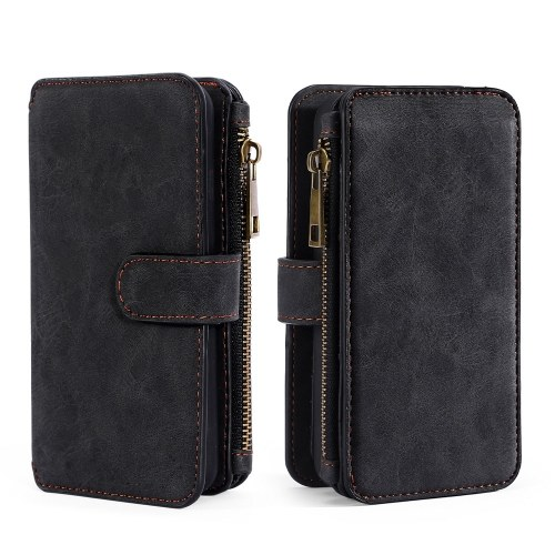 For Samsung Galaxy S7 S8 S8 Plus S9 S9 Plus Note 8 Multifunction Zipper Wallet Magnet Protective Phone Card Case Detachable Flip PU Leather Cover Stylish Anti-scratch