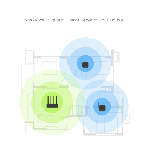 Xiaomi WiFi Amplifier Pro 300Mbps 2.4G Wireless Repeater with 2*2 dBi Antenna Wall Plug WiFi Range Extender Signal Booster for Xiaomi Router