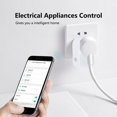 BESTEK MRJ1011 Wifi Smart Plug Compatible with Alexa & Google Home Automation Module Wireless Remote Control Light Switch Wifi Intelligent Socket for iOS Android Smartphone