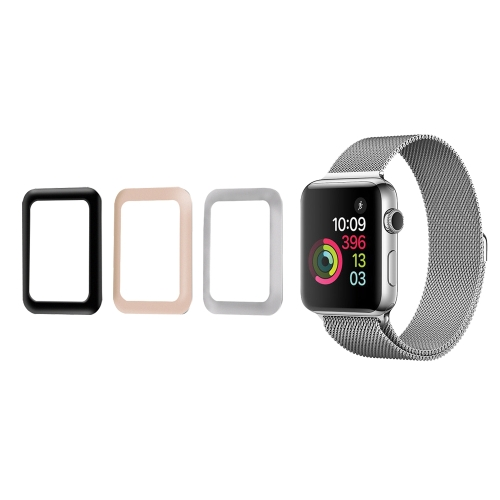Link Dream 0.2mm Tempered Glass Screen Protector Cover for 38mm Apple Watch iWatch Series 3 Aluminum Alloy Frame High Transparency Anti-scratch Anti-dust Explosion-proof