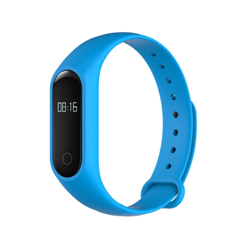 OUKITEL A16 Smart Band 0.42inch OLED Screen Dialog DA14580 CPU BT V4.0 60mAh Battery IP54 Waterproof Vibration Hot Spot Pulse Sensor Intelligent Sports Band Bracelet Pedometer Calories Heart Rate Sleep Monitor Call Reminder Distance Wrist Band for Samsung S6 S7 Plus Xiaomi Huawei Android Tablets Smartphones