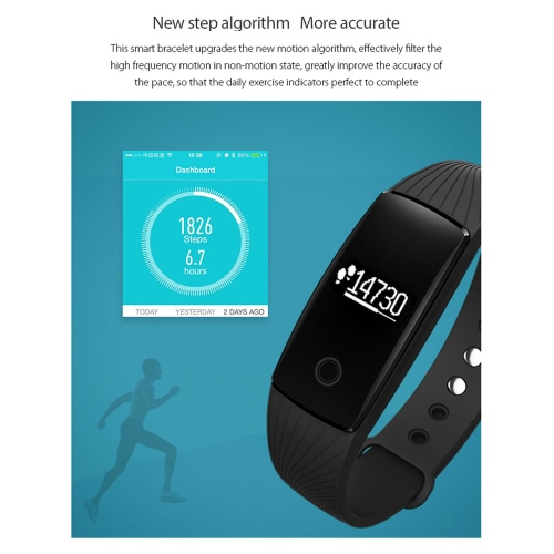 V05C Heart-rate Smart BT Sport Wristband Calls Notification Activity Tracking Sleep Monitor for iPhone Android Smartphones