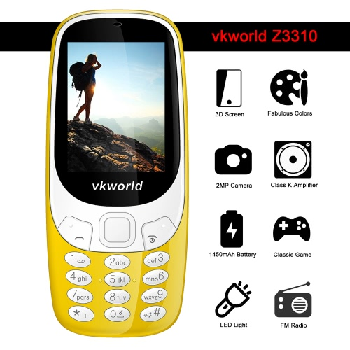 vkworld Z3310 Feature Phone 2G GSM 6531 2.4 Inches