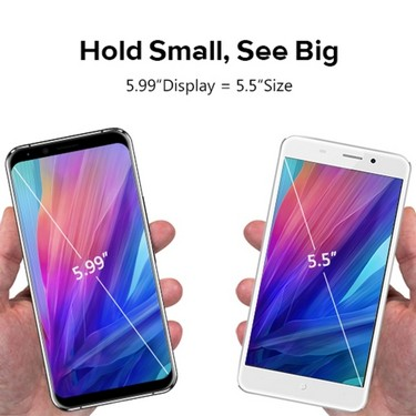 LEAGOO S8 Pro 5.99 Inch Bezel-Less 18:9  Big Screen 4G Mobile Phone 6GB RAM 64GB ROM