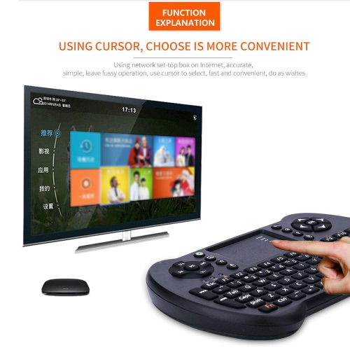 2.4G Mini USB Wireless English Version Keyboard Touchpad & Air Fly Mouse Remote Control for Android Windows TV Box Smart Phone