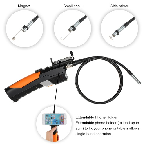 1m 8.5mm HD 720P Wifi & USB Industrial Endoscope Borescope Inspection Camera Waterproof 2.0 Megapixels 6 LEDs for iOS Android Windows