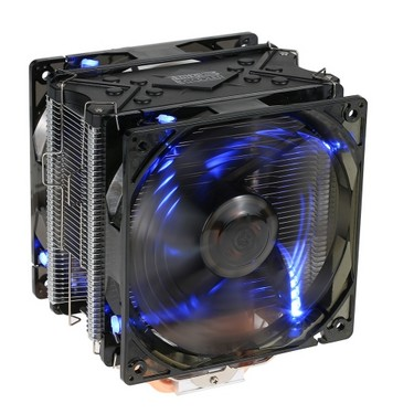 PCCOOLER 5 Heatpipes Radiator Quiet 4pin CPU Cooler Heatsink Fan Cooling with Dual 120mm LED Fans for Desktop Computer
