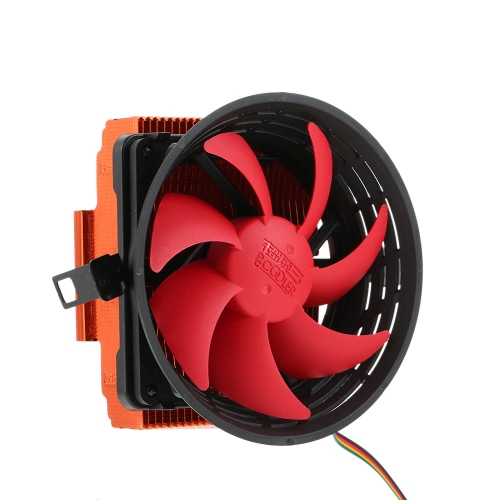 PCCOOLER 3pin Mini CPU Cooler Heatsink Fan Cooling with 80mm Fan for Desktop Computer