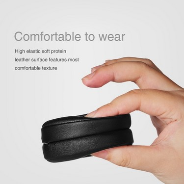 Replacement Memory Ear Pad Protein Leather Around Ear Cups Cushion Cover for Beats SOLO 2 / 3 Wireless On Ear Headphone