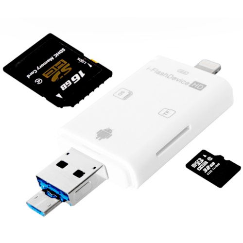 OTG 3 in 1 USB+SD+TF Card Reader Mobile Phone...