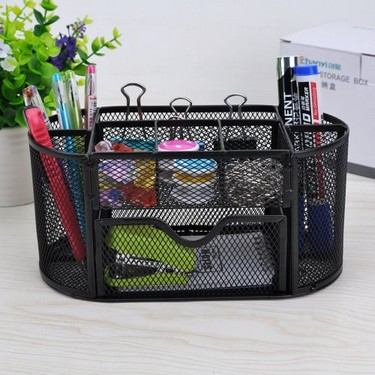 9 Storage Compartments Multi-functional Mesh ...