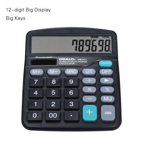 Electronic Calculator Counter Solar & Ba...