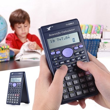 Scientific Calculator Counter 240 Functions 2 Line LCD Display Business Office Middle High School Student SAT/AP Test Calculate