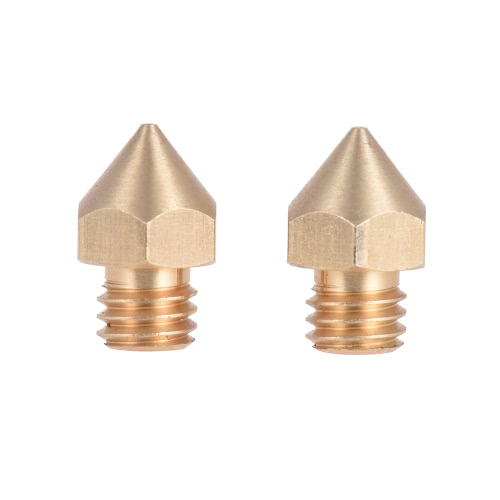 2pcs Brass Nozzle Extruder 3D Printer Head 0.6mm Output for 1.75mm & 3mm Filament for Makerbot Anet RepRap Prusa i3