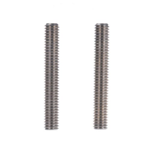 2pcs MK8 M6 * 40mm Stainless Steel Nozzle Extruder Throat Teflon Tubes Pipes for 1.75mm Filament 3D Printer Parts