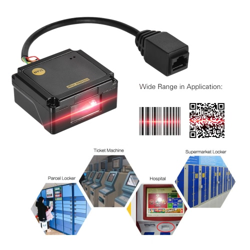 Embedded 1D 2D Barcode Scanner Reader Module CCD Bar Code Scanner Engine Module with RS232 Interface
