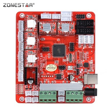 ZONESTAR ZRIB Controller Board Motherboard Mainboard Adopt ATMEGA 2560 MCU Compatible for RAMPS 1.4 RepRap Mendel Prusa i3 FDM 3D Printer DIY Self Assembly Parts