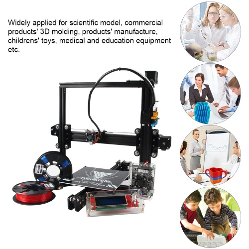 TEVO Tarantula I3 Aluminium Extrusion 3D Printer Kit 3D Printing 2 Rolls Filament 8GB Memory Card As Gift (Large Build Bed, Dual Extruder with Auto Leveling)