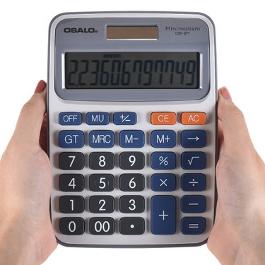 Standard Function Desktop Electronic Calculator 12 Digits Large Display Solar and Battery Dual Power Supply for School Home Office Business