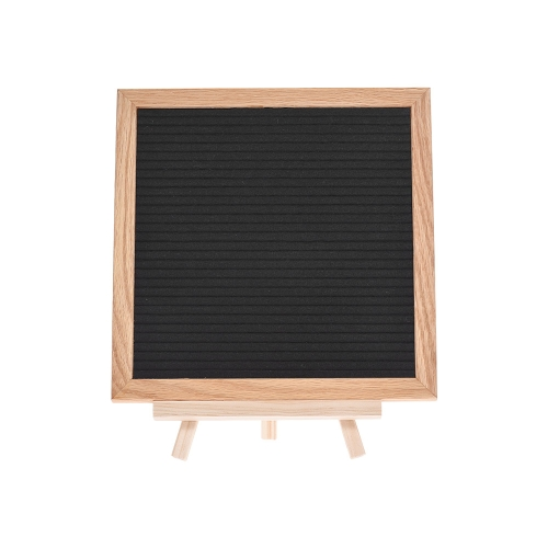 changeable black felt letter board wood message sign board 10 10 with stand