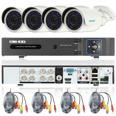 OWSOO 8CH Channel Full AHD 1080N/720P 1500TVL CCTV Surveillance DVR Security System