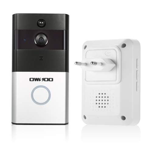 1*OWSOO 720P WiFi Visual Intercom Door Phone+1*Wireless Doorbell Chime