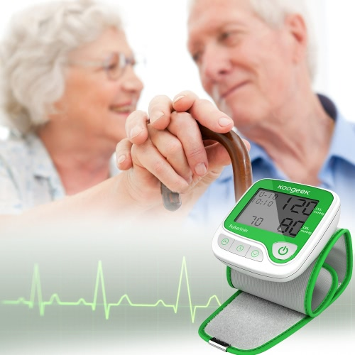 Koogeek Smart Wrist Blood Pressure Monitor with Heart Rate Detection and Memory Function Fully Automatic for Home Use