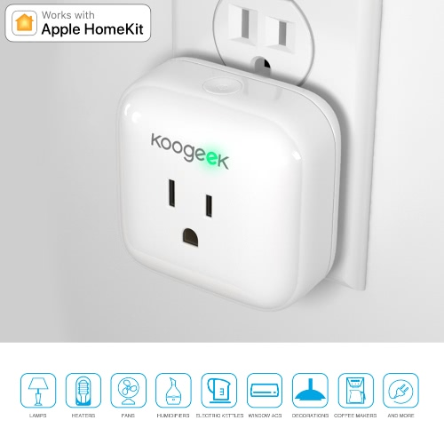 Koogeek Home Smart Plug Works with Apple HomeKit