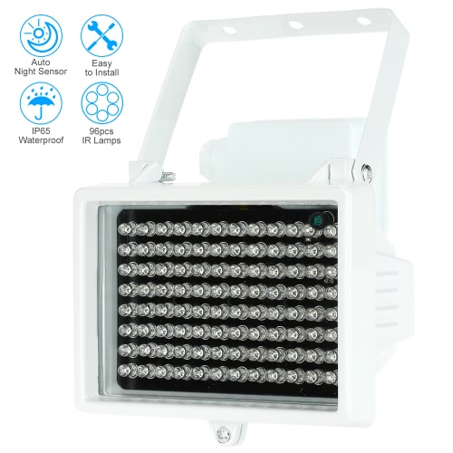 96 LEDS IR Illuminator Array Infrared Lamps Night Vision Outdoor Waterproof For CCTV Security Camera