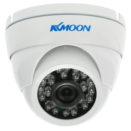 KKmoon  720P 1500TVL Dome AHD Surveillance Camera 1.0MP  3.6mm 1/4'' CMOS 24 IR Lamps Night Vision IR-CUT Waterproof Indoor Outdoor CCTV Security  NTSC System