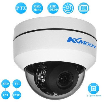 "KKmoon  1080P 2"" Dome AHD CVI TVI CVBS PTZ Camera 1/2.9'' for Sony CCD Sensor 2.8~8mm Auto-focus Varifocal Zoom OSD Menu 2.1MP 3 IR LEDS Security CCTV Camera NTSC System"