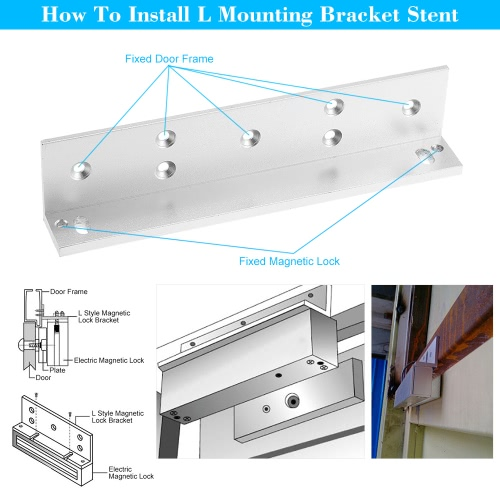 L Mounting Bracket Stent For 180KG 350lbs Magnetic Lock Door Aluminium Alloy Holder Stand