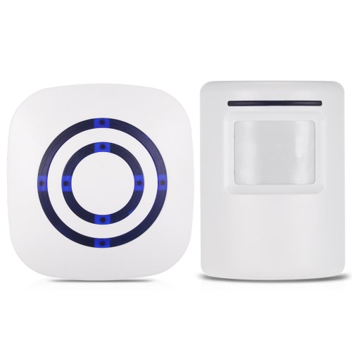 Wireless PIR Motion Sensor Doorbell 38 Chimes Volume Adjustment Long Transmission Range