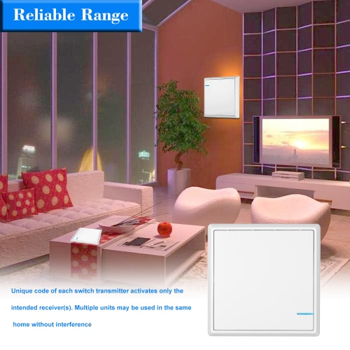 Wireless Switch Transmitter No Wiring Remote Control Waterproof House Lighting & Appliances Three Buttons